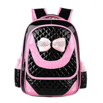 Eozy Children Backpack Casual Kid Daypacks Korean Bowknot Child Girl 1-6 Grade Students Schoolbags Bags(Black) (Intl)