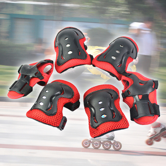 6PCS New Children Wrist Elbow Knee Pads Set Kids Sport Protective Tool Red
