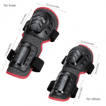 Fashion 4pcs Outdoor Sports Knee and Elbow Guards Protective Gear ร้านค้าดี ราคาถูกสุด - RanCaDee.com