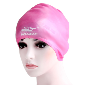 2016 the most new style Lycra swim cap with customized logo,fabric swimming cap(CAP-1000) RED Whales brand (Intl)