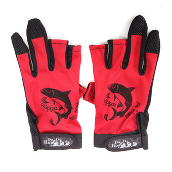 Fishing Gloves (Red)