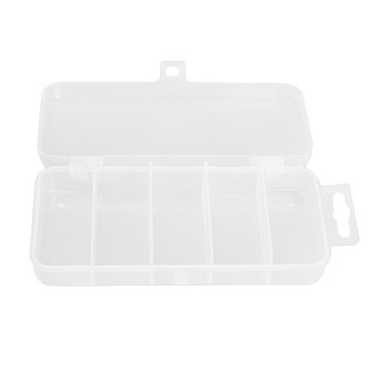 Transparent Plastic Fishing Lure Bait Box Storage Organizer Container Case