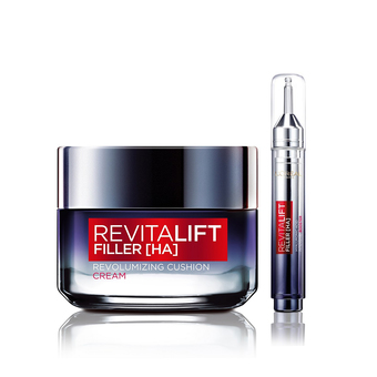 L'Oreal Paris REVITALIFT FILLER REVOLUMIZING CUSHION CREAM+REVITALIFT FILLER [HA] MICRO VOLUMIZING ESSENCE