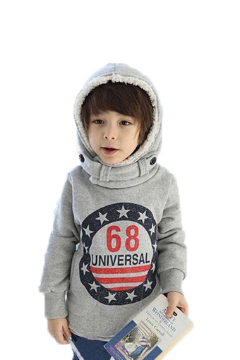 SuperCart Long Sleeve Hooded Sweater (Grey) (Intl)