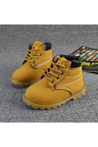 Winter Autumn Baby Child Kids Boys Girls Army Style Martin Boot Lace Boots Shoes (Intl)