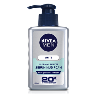 NIVEA MEN WHITE ACNE SERUM MUD FOAM 100M
