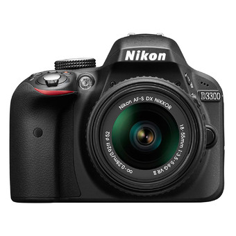 Nikon DSLR Camera D3300 Kit 18-55mm VR II - Black