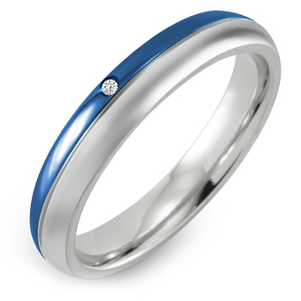 555jewelry Stainless Steel 316L แหวน รุ่น AZR-R113-E-S (Blue)