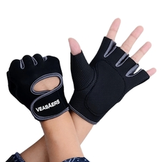 Sport Cycling Fitness GYM Half Finger Weightlifting Gloves Exercise Training (Black/Gray) (Intl)
