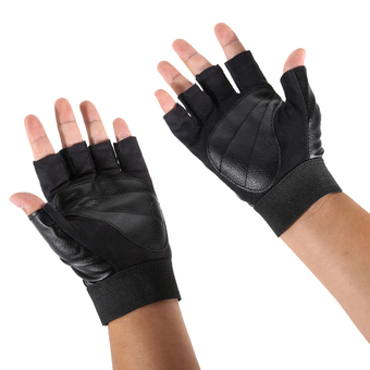 Pro Weight Lifting Gym Exercise Sport Fitness Sports Leather Gloves (Intl)