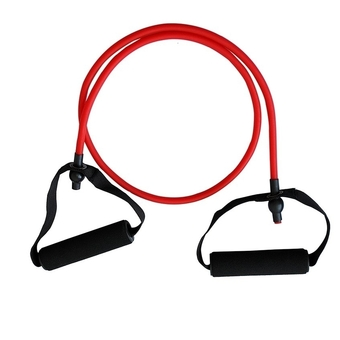 Super Fitness ยางยืดออกกำลังกาย 20 lbs Resistance Band Workout Stretch Heavy Duty Tubes (Red)