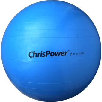 Chris Power Power Exercise Ball 250 KG 75cm ยิมบอลพร้อมสูบมือ (Blue)