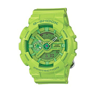 Casio G-Shock Men's Green Resin Strap Watch GMA-S110CC-3A