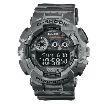 Casio Gents G-Shock Camouflage Limited Edition นาฬิกาข้อมือ สายเรซิ่น รุ่น GD-120CM-8DR - Grey