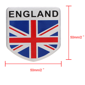 Universal UK Flag Emblem Badge Waterproof Aluminum Sticker Decal Decor Cover