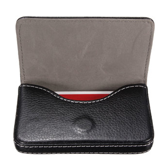 Leather Card Holder Wallet Holder Case (Black)