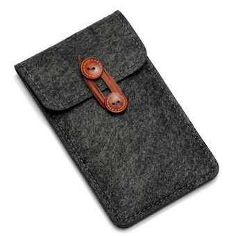 Vanker Fashion Case Cover Wool Felt Wallet Phone Bag Pouch for iPhone 6/6s 4.7 Color:Dark gray(Dark gray) - INTL