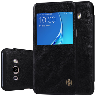 Nillkin เคส Samsung Galaxy J7 Version 2 (2016) รุ่น QIN Leather Case (Black)