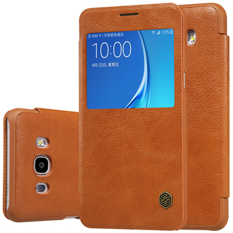 Nillkin เคส Samsung Galaxy J7 Version 2 (2016) รุ่น QIN Leather Case (Brown)