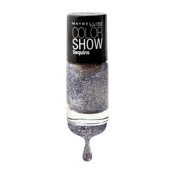 MAYBELLINE NEW YORK COLOR SHOW NAIL SEQUINS 810 SILVER GLEAM 6 ml