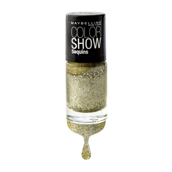 MAYBELLINE NEW YORK COLOR SHOW NAIL SEQUINS 740 GOLD's NIGHT OUT 6 ml