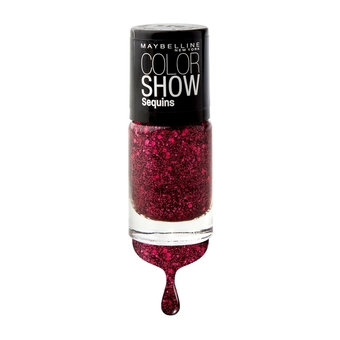 MAYBELLINE NEW YORK COLOR SHOW NAIL SEQUINS 800 RUBY RHINESTONES 6 ml