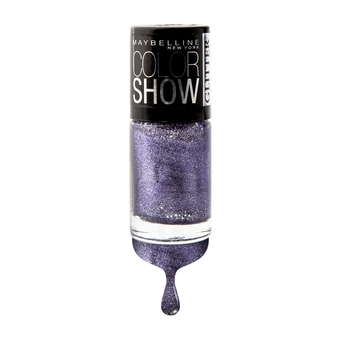 MAYBELLINE NEW YORK COLOR SHOW GLITTER MANIA COLLECTION 606 PAPARAZZI PURPLE 6 ml