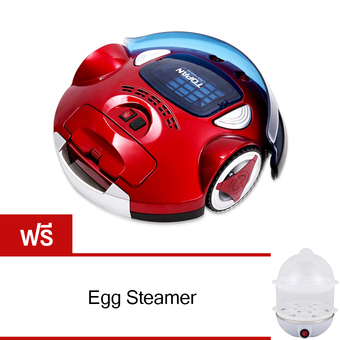 ROBOT CLEANER TP-AVC702 (Red) Free Egg Steamer (ขาว)