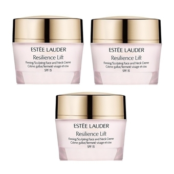 Estee lauder Resilience Lift Firming/Sculpting Face and Neck Creme SPF15 15ml (3 ชิ้น)