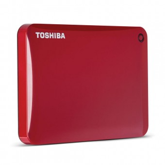 Toshiba 1TB Canvio Connect II Portable Hard Drive (Red)