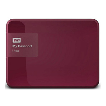 WESTERN HDD Hard Disk External 2.5 1TB (WDBGPU0010BRD) WD MY PASSPORT ULTRA (RED)