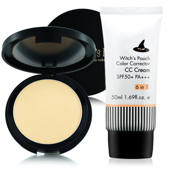Witch's Pouch Velvet Two Way Cake 12g. #21 Natural Beige + Witch's Pouch CC Cream SPF50+PA+++ 50ml