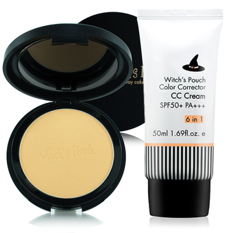 Product details of Witch's Pouch Velvet Two Way Cake 12g. #23 Natural Beige + Witch's Pouch CC Cream SPF50+PA+++ 50ml
