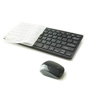 9FINAL Modern Design Ultra Thin Design 2.4GHz Mini Wireless Keyboard + Cover + Mouse Kit for Desktop Laptop PC Computer (Black)(...)