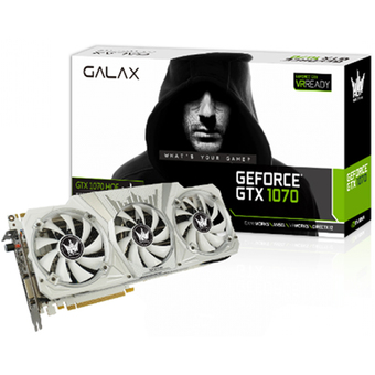GALAX VGA - Video Graphics Array GTX1070 HOF WHITE 8GB DDR5 256 BIT