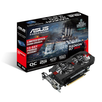 ASUS VGA - Video Graphics Array ATI (PCI-E) R7 360 OC 2GD5 V2