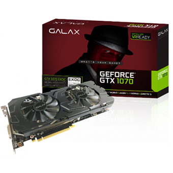 GALAX VGA - Video Graphics Array GTX1070 EXOC BLACK 8GB DDR5 256 BIT