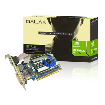 GALAX VGA - VIDEO GRAPHICS ARRAY NVIDIA (PCI-E) GT710 2GB DDR3 64 BIT