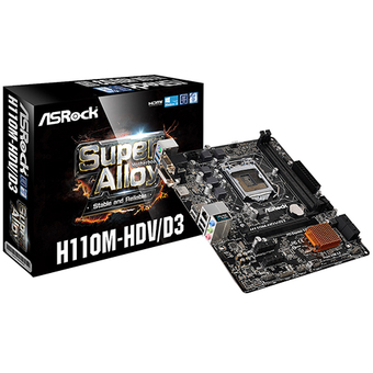 ASROCK M/B - MAIN/MOTHER BOARD SOCKET 1151 H110M-HDV/D3