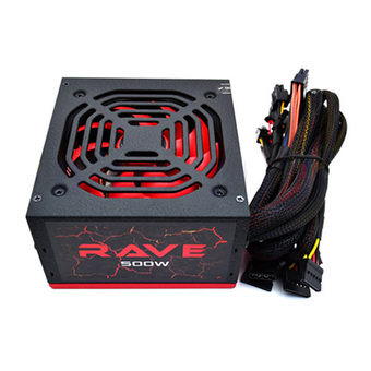 AEROCOOL POWER SUPPLY RAVE 500W (80+) (RAVE-500W)