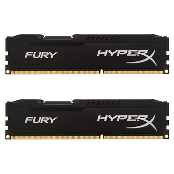 KINGSTON RAM - FOR PC DDR4-RAM 16/2400 HYPER-X (HX424C15FB2K2/16) FURY BLACK 8X2