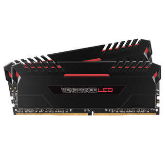 CORSAIR DDR4-RAM P/C 16/3200 VENGEANCE LED (CMU16GX4M2C3200C16R) 8x2 RED
