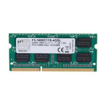 G.SKILL RAM For NoteBook DDR3-RAM N/B 4/1600 G.SKILL VALUE SERIES (1600C11S-4GSL) 1X4