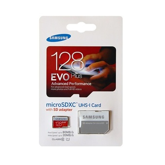 Samsung 128GB EVO Plus Micro SD with SD Adapter (80MB/s)