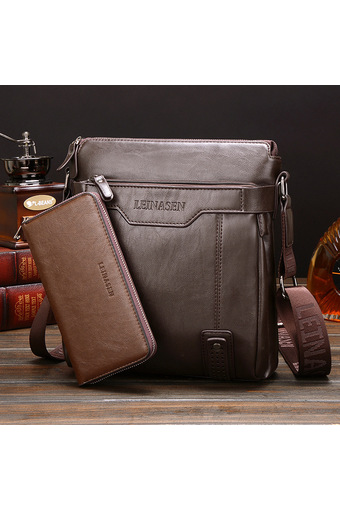 Leather Handbag High Quality Crossbody Bag Satchel Bag Vertical Section