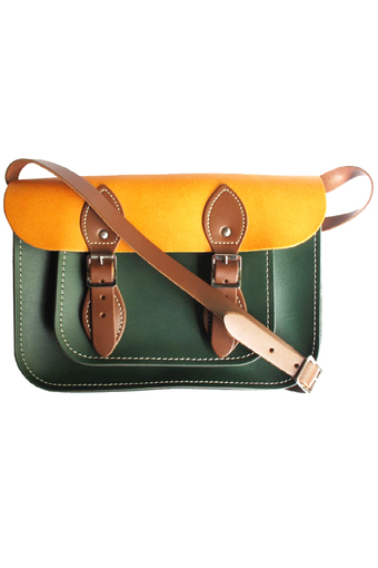 "The Leather Satchel Co. 11"" Classic Satchel Limited Edition (British County Fair)"""