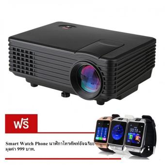 Nanotech 2016 WIFI VRD805 หลอด LED Android System Smart Projector VGA All in one Life Time 2K Hours Up (สีดำ) แถมฟรี SMART WATCH DZ09