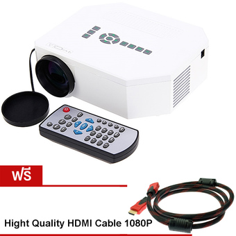 Nanotech HD Home Mini portable LED Projector รุ่น 30 (White) Free HDMI cable