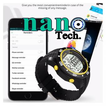 Nanotech 2016 XWatch Outdoor Sport Smart Watch Waterproof Dust-proof Night For Android Bluetooth 4.0/IOS 3 - สีดำเหลือง