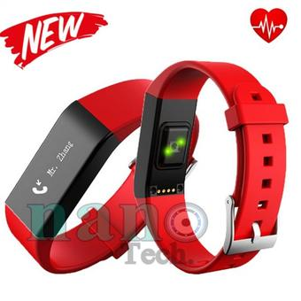Nanotech Vidonn A6 Heart Rate Wristband Smart Watch Sleep Monitor Fitness Tracker Waterproof IP67 Bracelet for IOS&Android - Red